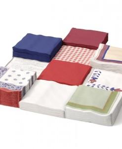 Farebné papierové obrúsky 3 vrstvové