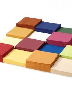 Farebné papierové obrúsky 2 vrstvové