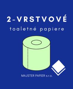Toaletné papiere 2-vrstvové